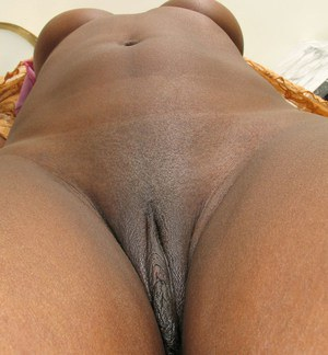 Something is. Shaved wet black pussy pics good